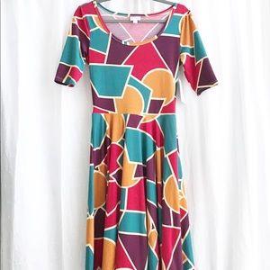 NEW LulaRoe Nicole Fall Colors Dress